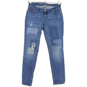 Old Navy Patched Boyfriend Skinny Jeans  (I13)